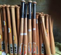 Solido legno beisbol mazza da baseball antiscivolo legno bate taco de basebol beisebol softball hardball prezzo all'ingrosso 54/64/74/84 cm da
