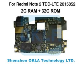 Argentina 1 unids Para Xiaomi Redmi Note2 Nota 2 Plus 2015052 2G RAM 32 GB ROM TD-LTE utiliza Mainboard Placa Base Lógica Reemplazo cheap xiaomi redmi note2 Suministro