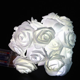 Wholesale Rose Fairy String Lights - Fashion Romantic Light Strings Waterproof Multi Colors Decorative Supplies 10 LED Rose Flower Fairy String Lights Popular 7cx B