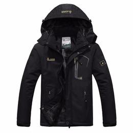 Wholesale Waterproof Coats Plus Size Women - Wholesale- autumn winter Plus velvet thickening jacket Men's woman jacket waterproof windproof men's casual warm coat jacket size