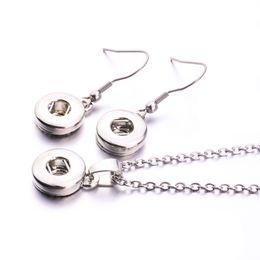2019 scatta gli orecchini Set di gioielli con orecchini a bottone 12mm 18mm placcati argento Noosa semplice per gioielli con bottone a pressione sconti scatta gli orecchini
