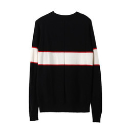 Wholesale Crew Sweaters - Black luxury brand sweaters for men fashion long sleeve letter print couple sweaters autumn loose pullover sweaters for women free shipping