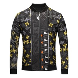 Wholesale Lead Jacket - Foreign Trade Autumn And Winter New Pattern Loose Coat Male Stand Lead Leisure Time Number Printing High Archives Major Suit Jacket Goods In