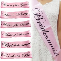 Wholesale Hot Hen Party - Wholesale-Hot Pink Hen Party Sash with Lips Bachelorette Party Shoulder Accessories Girls Night Decoration Centerpieces 7A0096