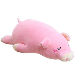 """Suini rosa peluche online-Peluche Maiale che abbraccia Cuscino Piggy Peluche Giocattoli Super Soft Pink Piglet Cuddly Dolls Regali per Bambini Fidanzata 18 """""""