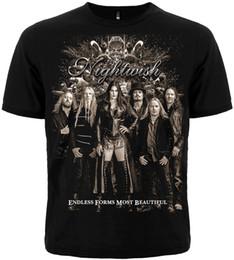Wholesale Casual Form - Designer T Shirts Rock Metal Band Nightwish Endless Forms Men's T Shirt Size S 3Xl Short Sleeve Summer O-Neck Tee Shirt For Men