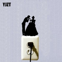Wholesale Wall Stickers Princess - Kiss The Princess Prince Vinyl Light Switch Sticker Decor Home Wall Decal 7SS0117
