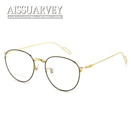 4a0e9fa0afa Pure Titanium Round Vintage Optical Eyeglasses Frame Brand Designer Top  Quality Eyewear Women Men Fashion Big Light Retro Glass