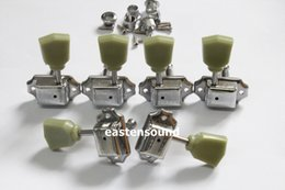 Wholesale free guitar tuners - Free Shipping Chrome 3+3 Vintage guitar tuners with G logo lp guitar machine heads electric guitar tuning