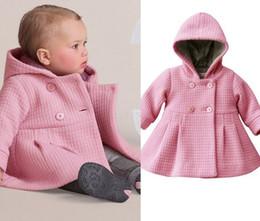2019 длинные куртки девушки новая модель Новый девочка пальто чисто розовый теплая зима дети верхняя одежда траншеи мода Детская одежда Оптовая торговля розничная DS6