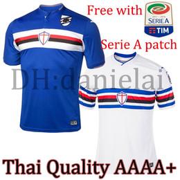 Wholesale Quality Custom Homes - Thai quality AAAA+ Sampdoria soccer jerseys home and away MAGLIA GIOC Praet Cassano Alvarez Quagliarella Zapata football shirt Custom Jersey
