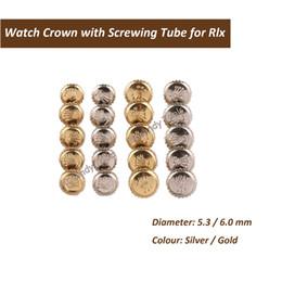 Orologio rlx online-Corona per orologio Rlx in acciaio inossidabile e oro con parti di orologio ideali per orologi