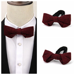 1b7ea5c3e88b VEEKTIE Novelty 65% Wool Bowtie Tuxedo Suit Wedding Party Bow tie for men Burgundy  Gentlemen Business Meeting Accessories Cravat