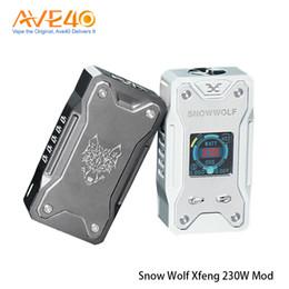 Auténtico snowwolf online-Auténtico Snowwolf Xfeng Mod 230W TC Box Mod Versión de alta clase alimentado por baterías dobles de alto consumo 18650 100% Original