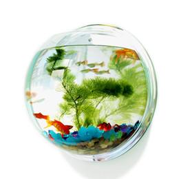 Аквариумные принадлежности онлайн-Акриловая рыба Bowl Настенный аквариумный резервуар Водные принадлежности для домашних животных Продукты для домашних животных Настенный рыбный резервуар
