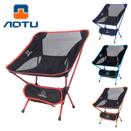 Wholesale Portable Hiking Chair - New Camping Folding Chair Light weight Portable Camping Chair Seat Stool Hiking Fishing Gardening Pouch ISP HW177