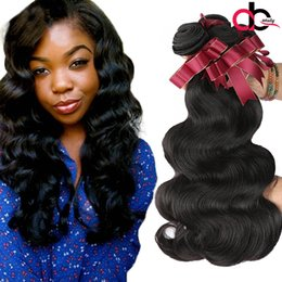 Wholesale Brazillian Natural Wave Hair - 9A Brazilian Virgin Hair Body Wave Bundles Unprocessed Mink Brazillian Peruvian Indian Malaysian Body Wave Remy Hair Extension Narural Color