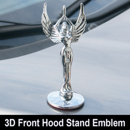 Wholesale toyota camry badges - Styling Car Statue of Liberty Front Bonnet Badge Eagle Base Hood Stand Emblem Beauty Sticker for Toyota Coralla Crown Camry Civic for VW