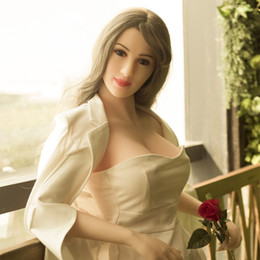 Wholesale Love Dolls Japan - 158cm japan real sex doll Silicone Sex Doll Adult Male Love Doll Adult Sexy Toys With Full Body and Metal Skeleton Masturbating massager