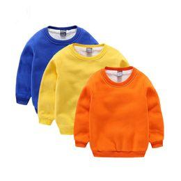 Wholesale Fleece Baby Clothing - Hot New Baby Girls Boys Hoodie Children Fleeces Inside Sweatshirts Children Clothes Outwear Kids Winter Warm Clothes Coat
