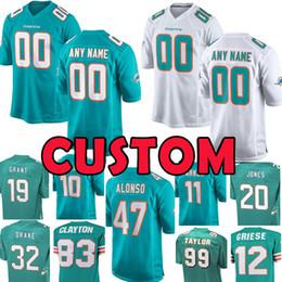 a187f8f2dfa new Custom Jersey 8 Matt Moore 47 Kiko Alonso Miami 20 Dolphins Reshad  Jones 10 Kenny Stills 99 Jason Taylor 54 Zach Thomas 32 Kenyan Drake miami  football ...