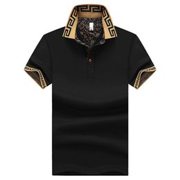 Más el tamaño M ~ 5XL Marca de los hombres Polo para hombre Diseñador Polos Hombres camiseta de manga corta jerseys golftennis ropa desde fabricantes