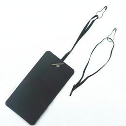 Prendas cuelga etiquetas online-500 PCS premade Hang Tag Cord con Safety Pin Garment Price Swing Tag DIY Cordón de la secuencia
