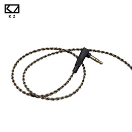 earphone upgrade cable Promo Codes - Newest Original KZ ZS6 ZS5 ZS6 ZS3 ED12 ZST Cable Silver Plated High Purity OFC Upgrade Cable 0.75mm For KZ Earphones