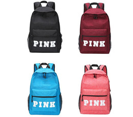Wholesale Big Travel Backpack Bag - Top Quality Pink Big Volume Backpack Sports Travel stowage Makeup bags