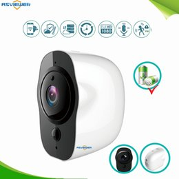 Cableado de cámaras de seguridad online-Sin cables Cable de seguridad para exteriores Cámara IP 1080P HD Cámara inalámbrica con Wi-Fi Vigilancia alimentada por batería Audio a prueba de agua IP65 impermeable