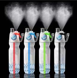 Спрей для обледенения онлайн-Брызга тумана воды льда бутылки холодной питьевой бутыль 500 мл портативный открытый спортивный бутылки OOA5276