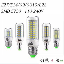 Wholesale led corn bulbs e27 - SMD5730 E27 GU10 B22 E14 G9 LED lamp 7W 12W 15W 18W 20W 220V 110V 360 angle SMD LED Bulb Led Corn light