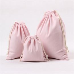 fabric toy storage Canada - 2018 New Fresh Fabric Coon linen Organizer Bag Travel Drawstring Tote Storage Bag For Underwear Toy Storage