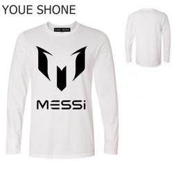 Camisa de manga larga de algodón para hombre Camiseta de algodón graciosa  de Messi Copa del mundo Aficionados a Argentina Camisetas de Lionel Messi  ... 55b862484f6