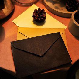 Wholesale envelope window - 10pcs lot Brown White Black Kraft Blank Mini Paper Window Envelopes Wedding Invitation Envelope  Gift Envelope 162*114mm