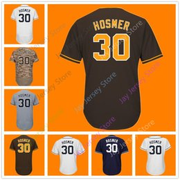 Wholesale women camo shorts - Eric Hosmer San Diego Jersey Home Away Cool Base Flexbase Men Women Youth White Navy Camo Grey