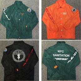 Wholesale Collar Jackets Men - Heron Preston Jackets Men Women 2018 Fashion Green Orange Heron Preston Windbreaker Jacket Windproof Heron Preston Jackets