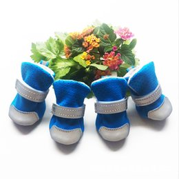 Wholesale Winter Dog Booties - 4pcs Pet Dog Shoes Puppy Cat Chihuahua Rain Boots Waterproof Rubber Anti-slip Footwear Small Cats Dogs Teddy Socks Booties DHL Free Shipping