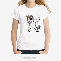 einhornt-stück Rabatt Einhorn Tshirt Frauen Sommer Weiß Cartoon Panda Printed Tees Kurzarm Tops