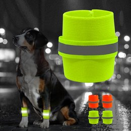 Wholesale Socks For Hiking - 2pcs set Dog Reflective Wristband High Visibility Safety Pet Bracelet Night Running Hiking Walking for Small Large Dogs AAA519