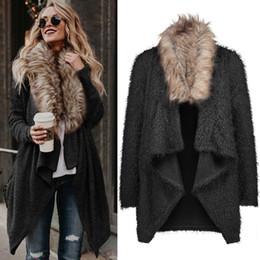 2019 abrigos de invierno para mujer sexy Abrigo de lana de invierno marca moda diseñador de lujo para mujer abrigos abrigos delgado sexy gabardinas de gran tamaño de las señoras paño outwear abrigo XXL abrigos de invierno para mujer sexy baratos
