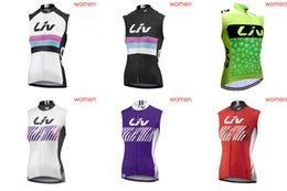 2ef0c7152 LIV team Cycling Sleeveless jersey Vest women 100% Polyester 2018 summer  style mountain bike riding Bicycle Clothing D0203