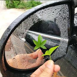 2019 papel de embrulho de fibra de carbono New Universal Espelho Retrovisor Do Carro À Prova de Chuva Anti-nevoeiro Auto Escurecimento Film Sticker Anti-dazzling Escudo de Chuva Oval Roundness
