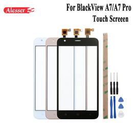 Handy reparaturteile online-Alesser Für BlackView A7 Sensor Touchscreen Perfekte Ersatzteile Touch Panel + Tools + Adhesive Für BlackView A7 Pro Handy