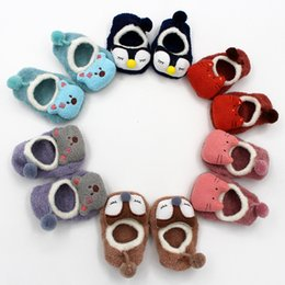 Wholesale Socks Animals Doll - 5 Pairs Lot Coral Fleece Cute Cartoon Thick Toddler Doll Socks Autumn Winter Baby Socks Soft Animal Pattern Infant Boys Girls Floor Socks