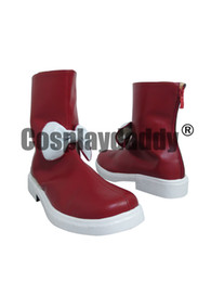 Wholesale Anime Touhou - Touhou Project Fujiwara no Mokou Red Halloween Girls Cosplay Boots Shoes