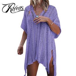 7f490d63f60 Urifens 2018 Summer Deep V Neck Crocheted Hollow Out Cover Up Batwing  Sleeve Sweater Women Tassel Sexy Beach Knitwear LMD01