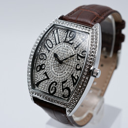 relógios oval Desconto Marca de couro de quartzo de alta qualidade aaa mens de luxo relógios de moda homens de diamante vestido de designer de relógio atacado venda quente mens presentes relógio de pulso