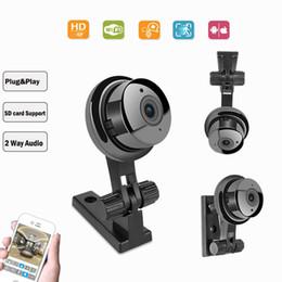 IP Plug Play Câmera Sem Fio 720 P resolução de 180 Graus vista Mini tamanho Inteligente CCTV Home Security Camera cor preta AS-180Y de