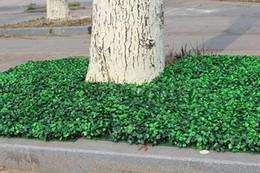 impianti di protezione da giardino Sconti Piante di siepi di giardino artificiali 25x25cm piante finte fogliame esterno recinzione per la decorazione di nozze 200pcs / lot